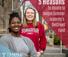 5 reasons to Donate to Temple's Summer Academy Fund