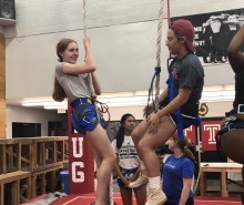 Students on a rope